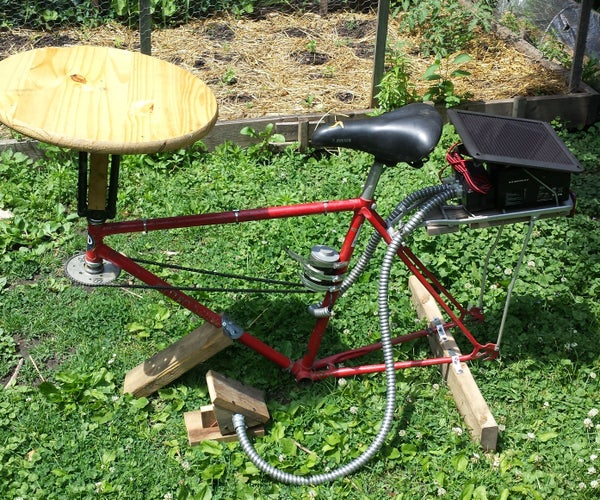 Solar Powered, Bike Frame Pottery Wheel