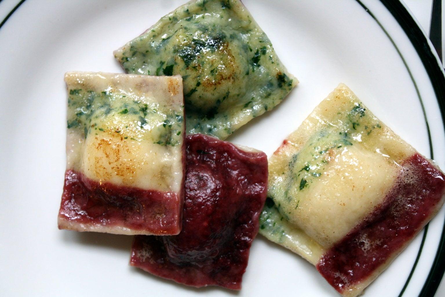 Cook Ravioli/ Make Sage-Infused Butter Sauce