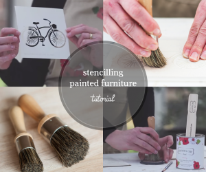 How to Use a Stencil on Painted Furniture