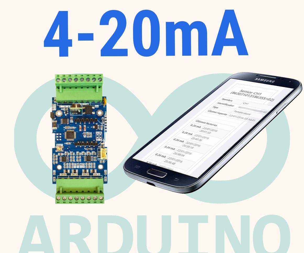 4-20mA Arduino plataforma web