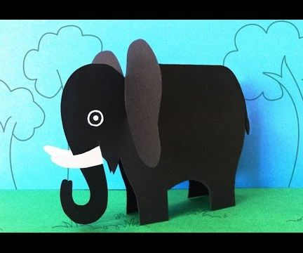 Fun Crafts for Kids : How to Make a Paper Elephant Crafts