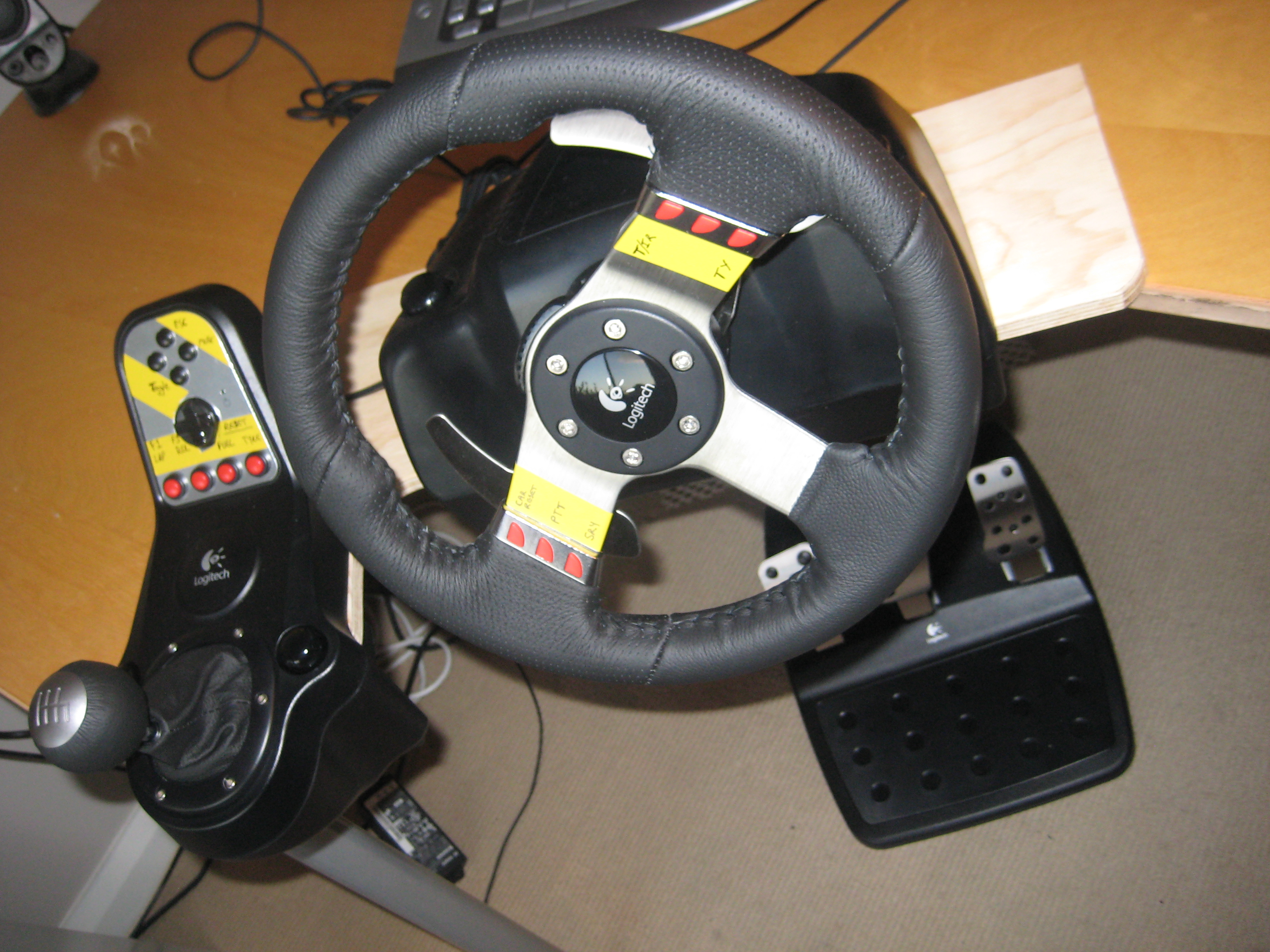 Pc Steering Wheel Desk Mount 5 Steps Instructables