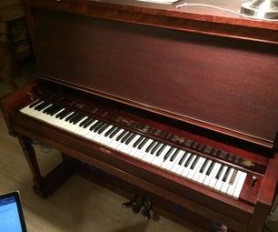 MIDI控制的88钥匙簧片器官,带有MIDI-over-of-Bluetooth