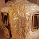 Pumpkin toy house, from recycled materials only