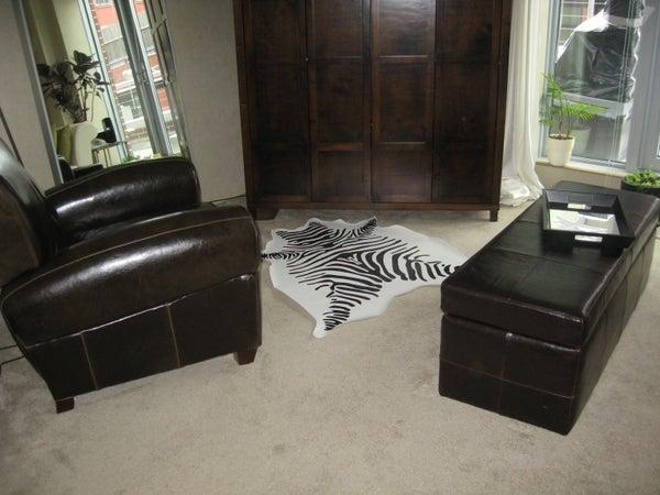 How to Make a Faux Zebra Hide Rug