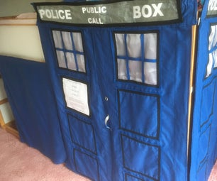 Doctor Who's Tardis Child's Bunk Bed Removable Curtains