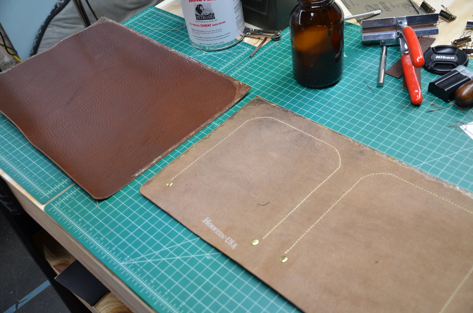 Step 7: Cement the Front Panel and Laptop Pocket Together