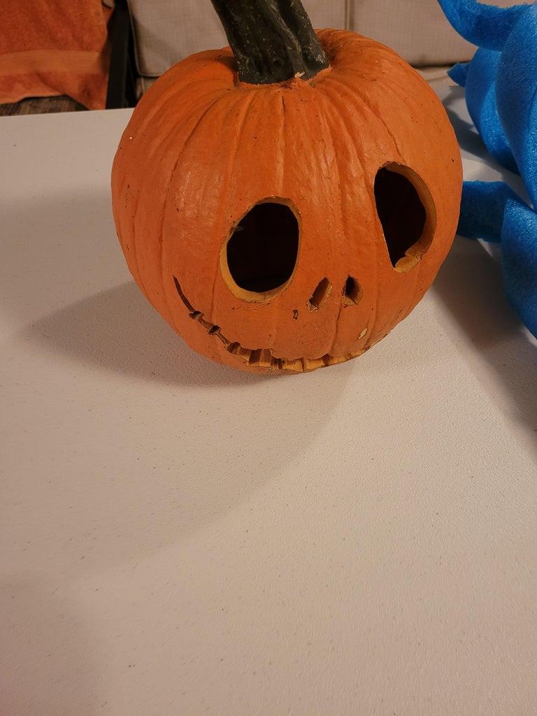 Carve Styrofoam Pumpkin