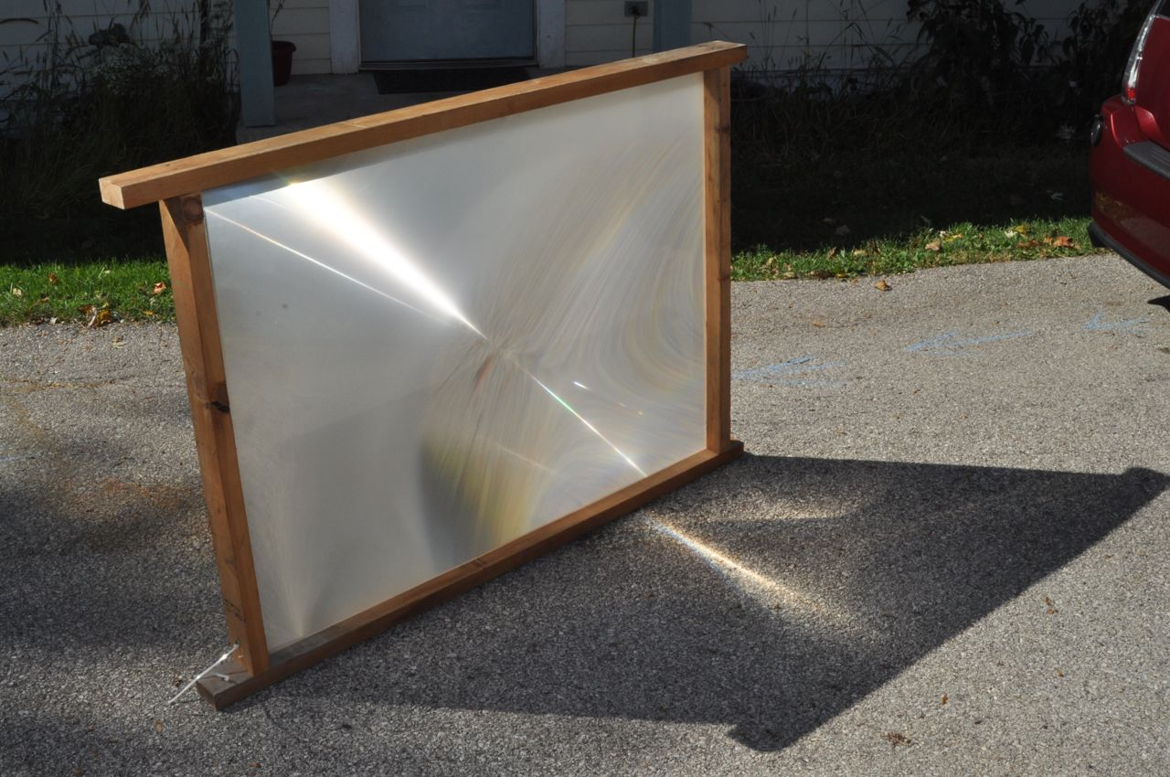 Solar Death Ray (TV Fresnel Lens)