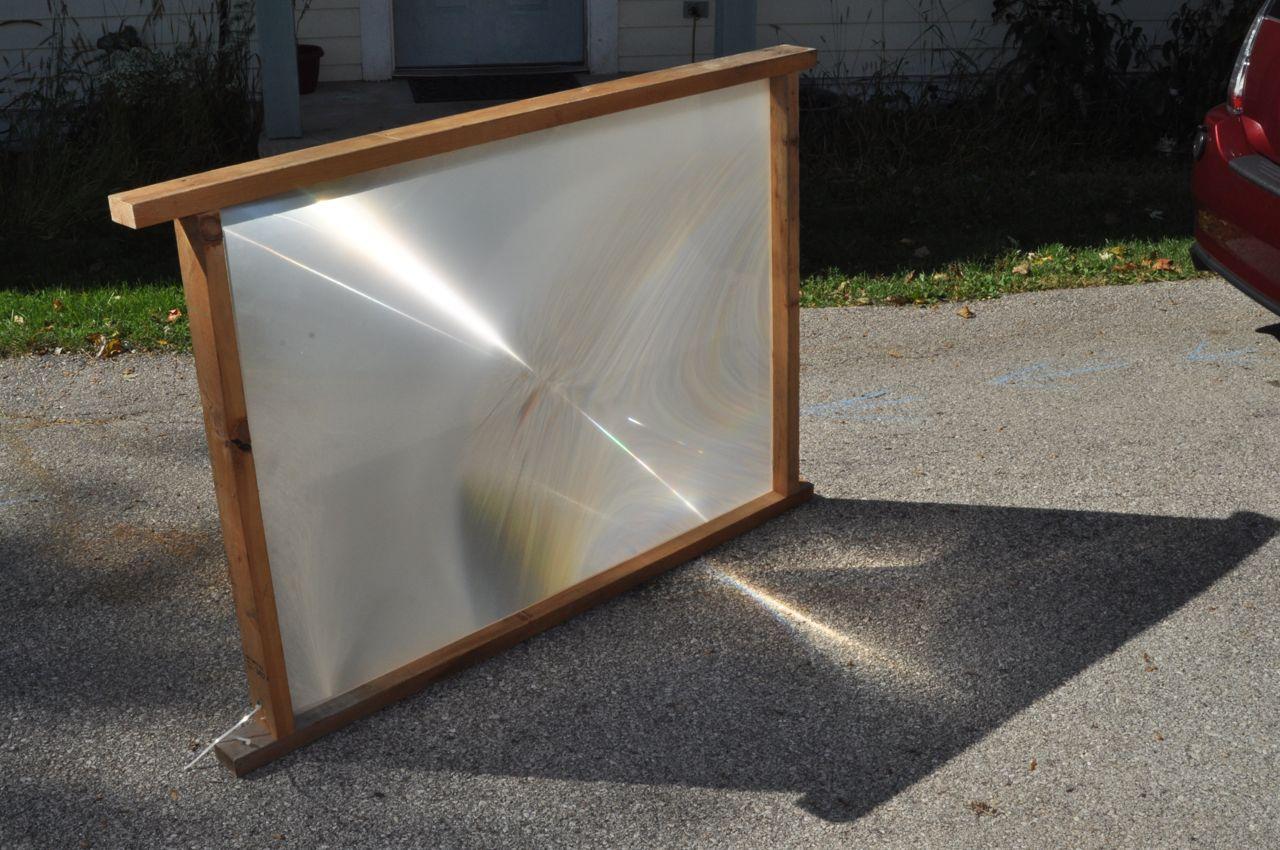 Solar Death Ray (TV Fresnel Lens)