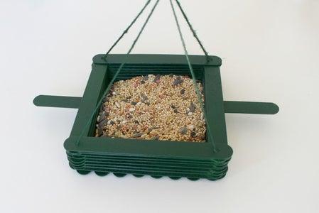 Make a Bird Feeder With Craft Sticks