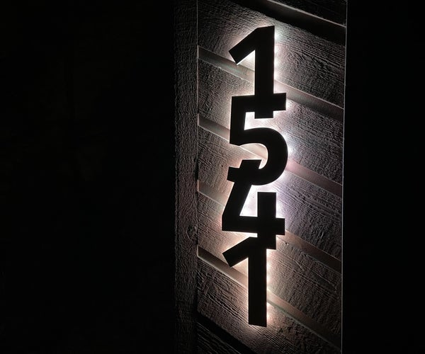 Backlit House Numbers