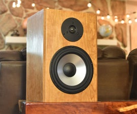 Designing & Building Cherry Wood Speakers From Scratch