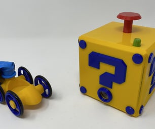 """A 3D Printed Balloon Powered """"Jet"""" Car With Inflator."""
