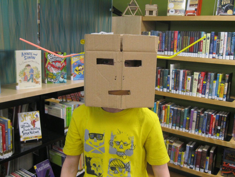 Cardboard & Strawbees Knight's Helmet