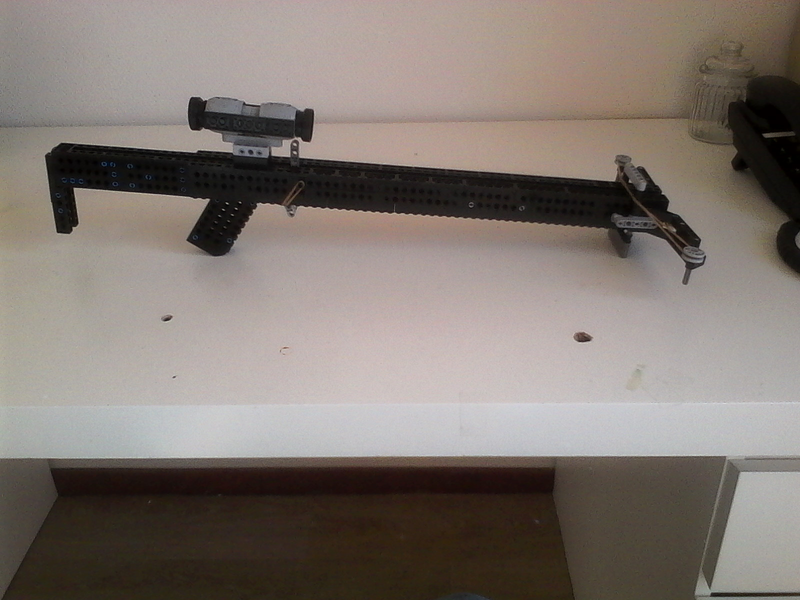 how to make a very powerful Lego crossbow