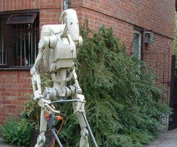 Papercraft 1:1 Scale Star Wars Battle Droid.