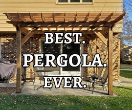 How to Build a Pergola on a Concrete Patio in Two Days