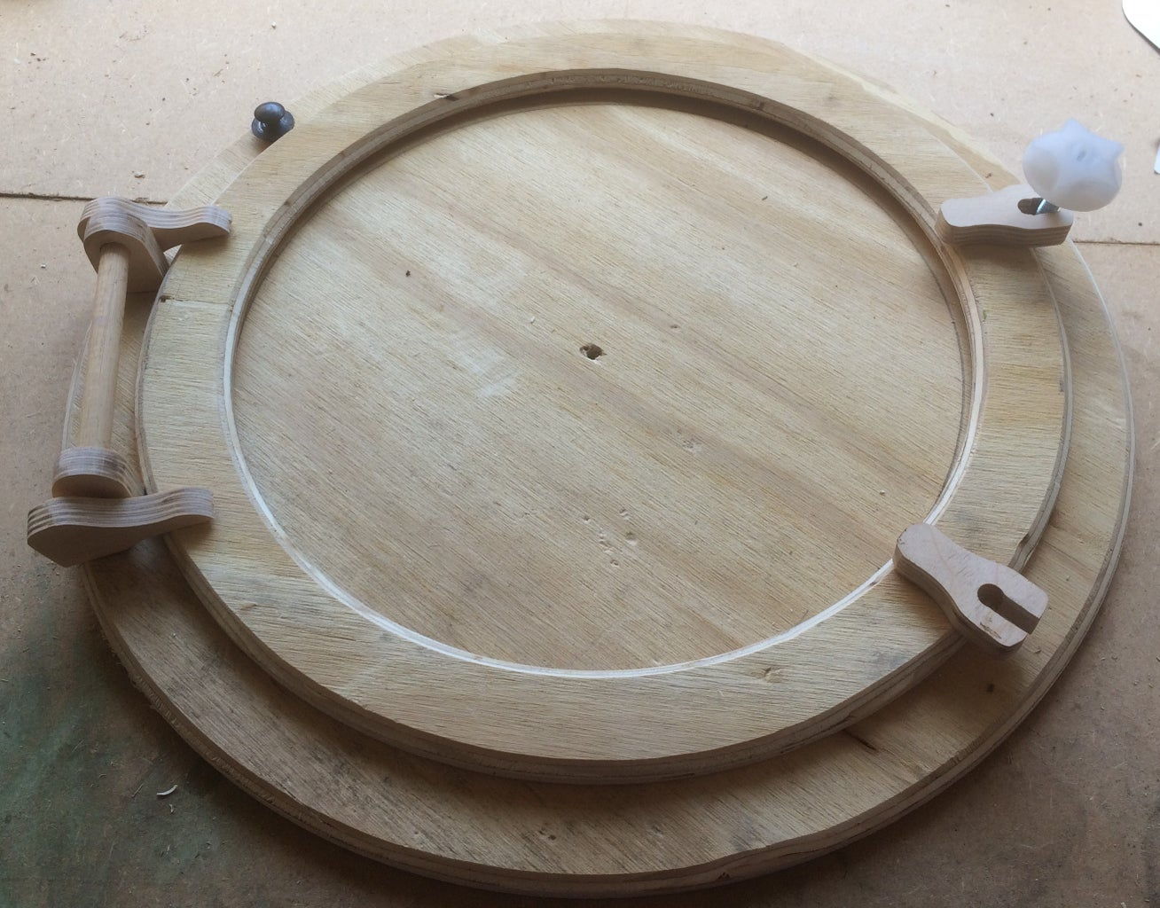 Plywood Pieces and Positioning