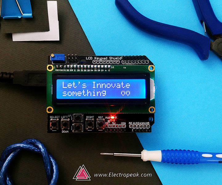 Using 1602 LCD Keypad Shield W/ Arduino [+Practical Projects]