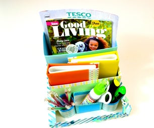 DIY Desktop Organizer : Room Decor - Recycle Cereal Boxes and Toilet Paper Rolls - Giulia's Art