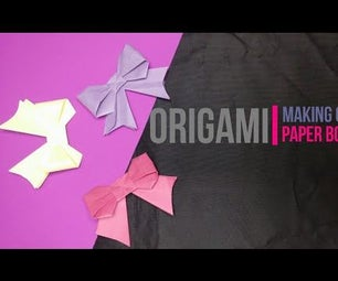 Paper Bow [Origami] [DIY] by Brain Washer