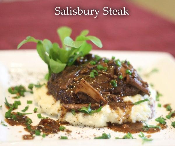 Not Your Lunch Lady's Salisbury Steak
