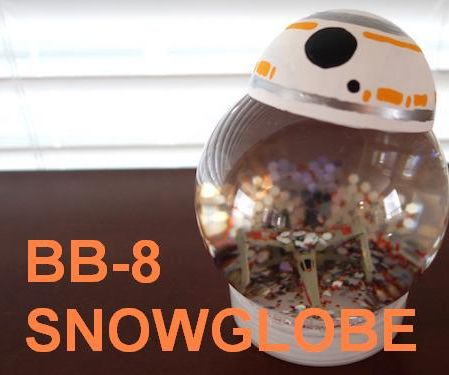 STAR WARS BB8 SNOW GLOBE