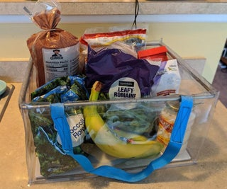Vinyl Grocery Basket