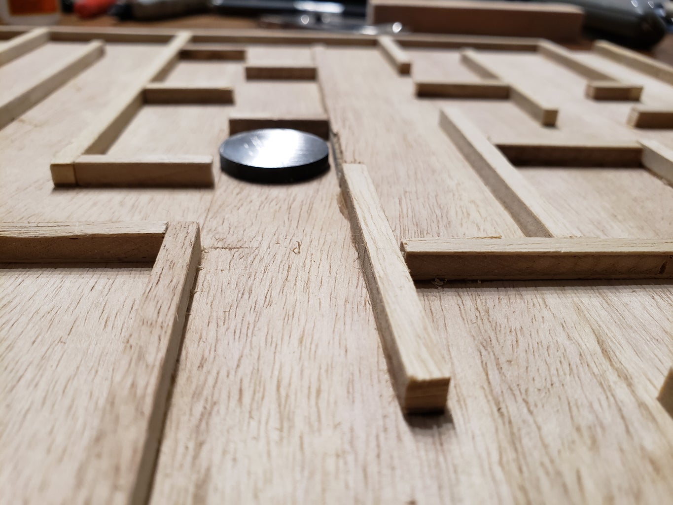 Use the Spacer to Glue Down the Maze...