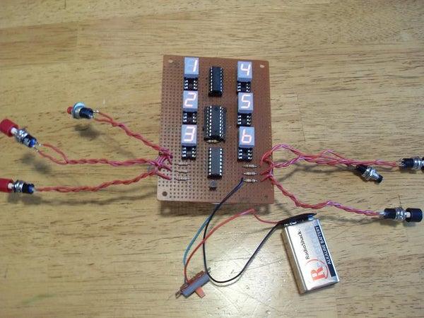 BloodBowl Turn Counter Using 7-segment LEDs