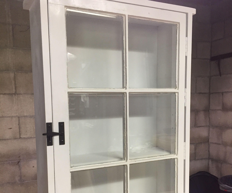 Antique Window Storage Cabinet