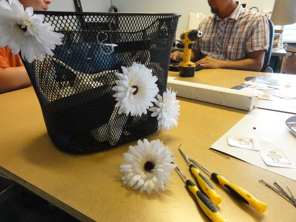 Making Flowers Actually Stick to Basket