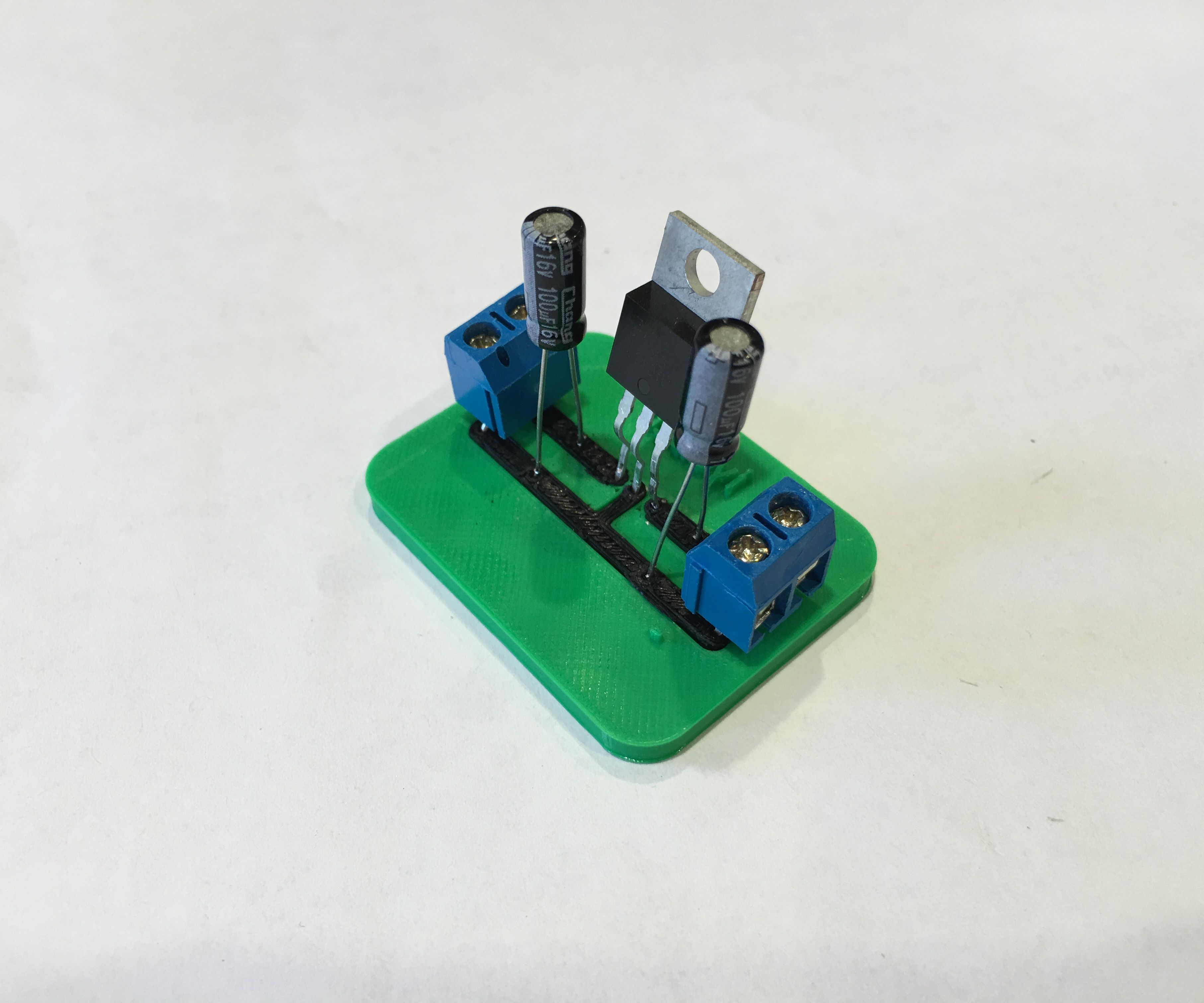 3D Printed Voltage Regulator Circuit like PCB