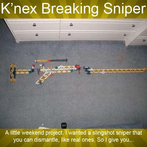 K'nex Breaking Sniper: the Rucksack Rifle