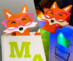 Foxy Book-light / Bookmark From Junk Drawer Finds
