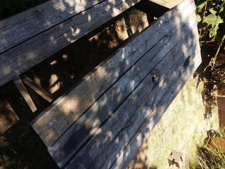 Un-warp a Weathered Park Bench