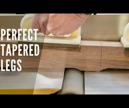 Create Perfect Tapered Legs on a Jointer