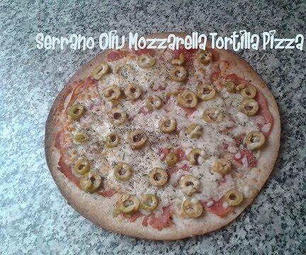 Serrano Oliv Mozzarella Tortilla Pizza Recipe
