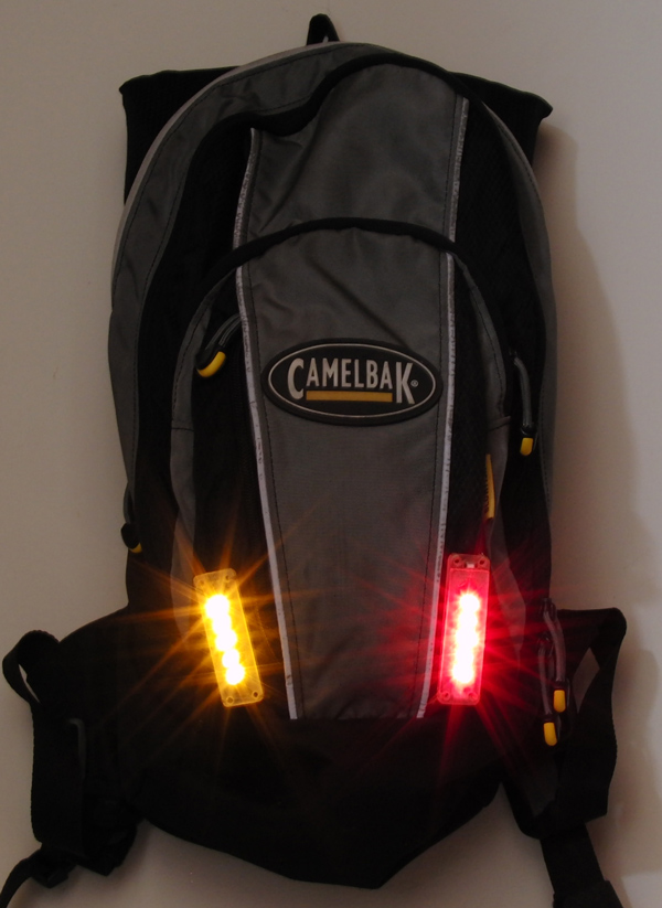 FlashBack - Backpack, Camelbak or Jersey Integrated LED Bike Flashers