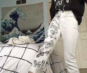 Aesthetic Stamped Jeans