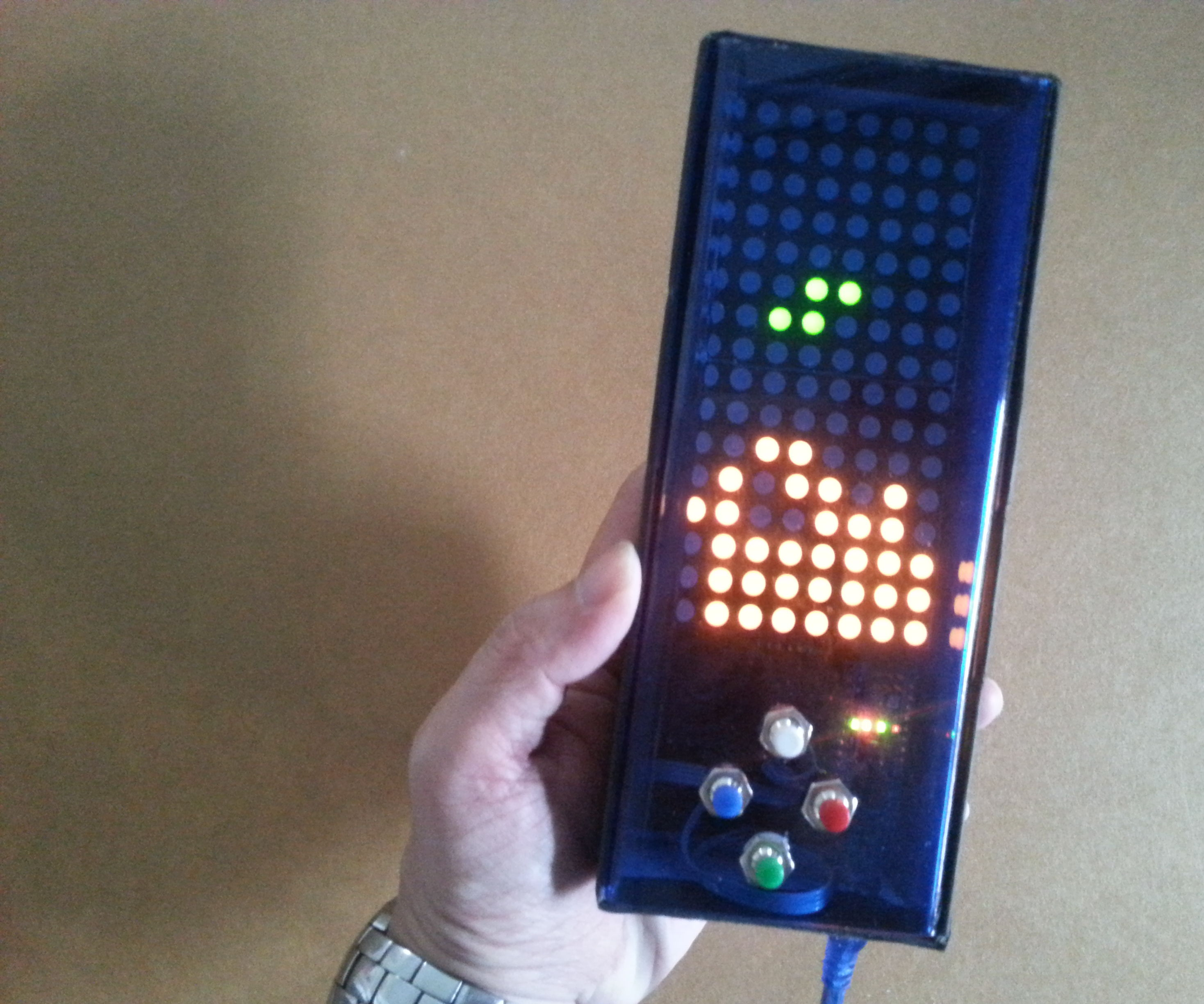 Arduino based Bi-color LED Matrix Tetris Game