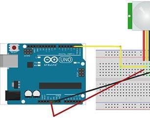 Interfacing PIR and Arduino to Detect Human Presence