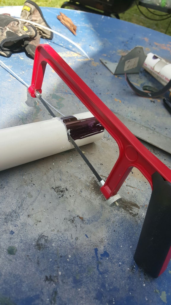 Making the Pole Holders With the Locking Mechanism