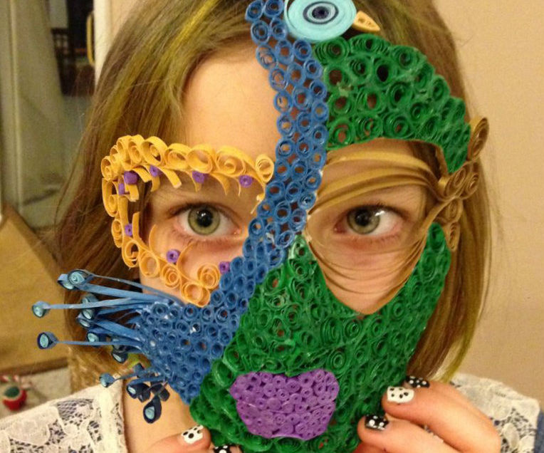 Quilled Mardi Gras Mask