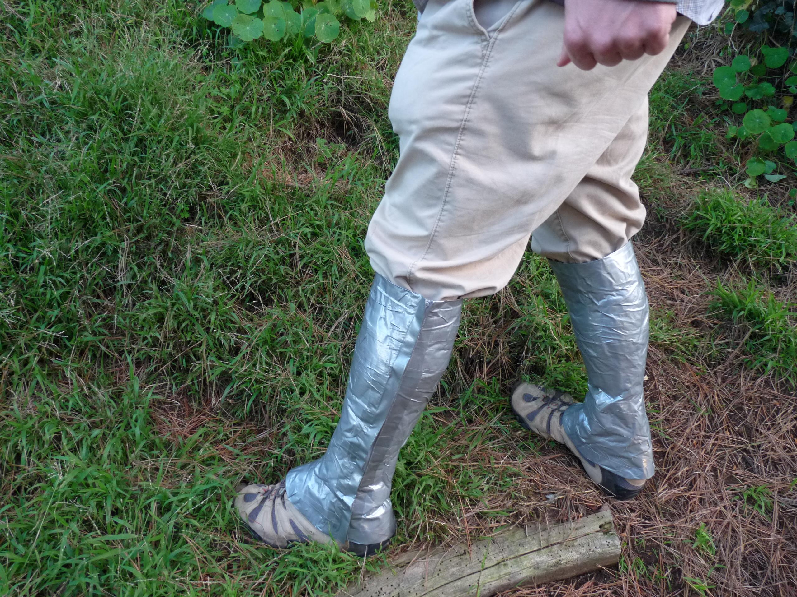 Duct Tape Hiking Gaiters