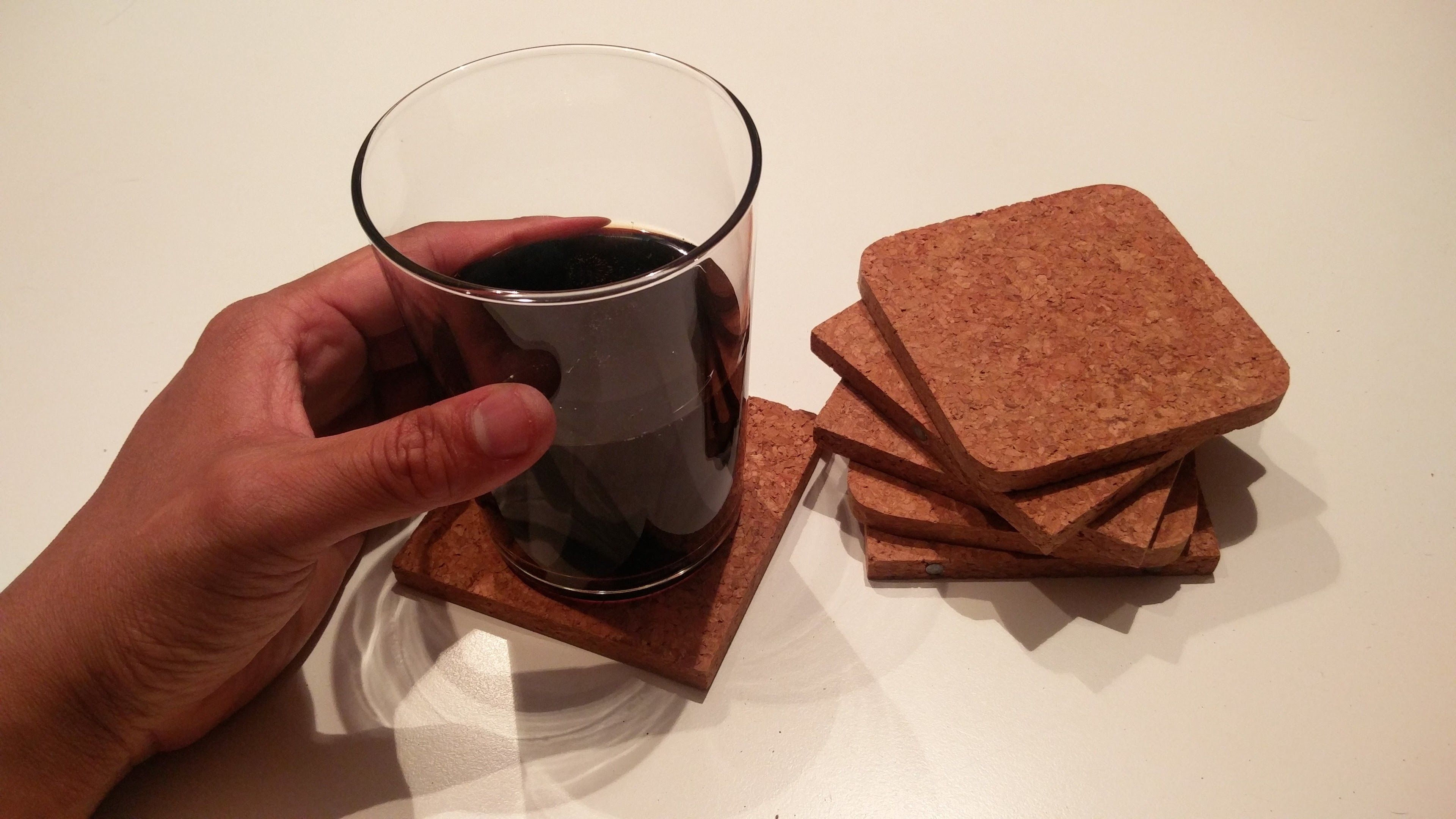 Magnetically Assembled Cork Coaster Mini-Chair