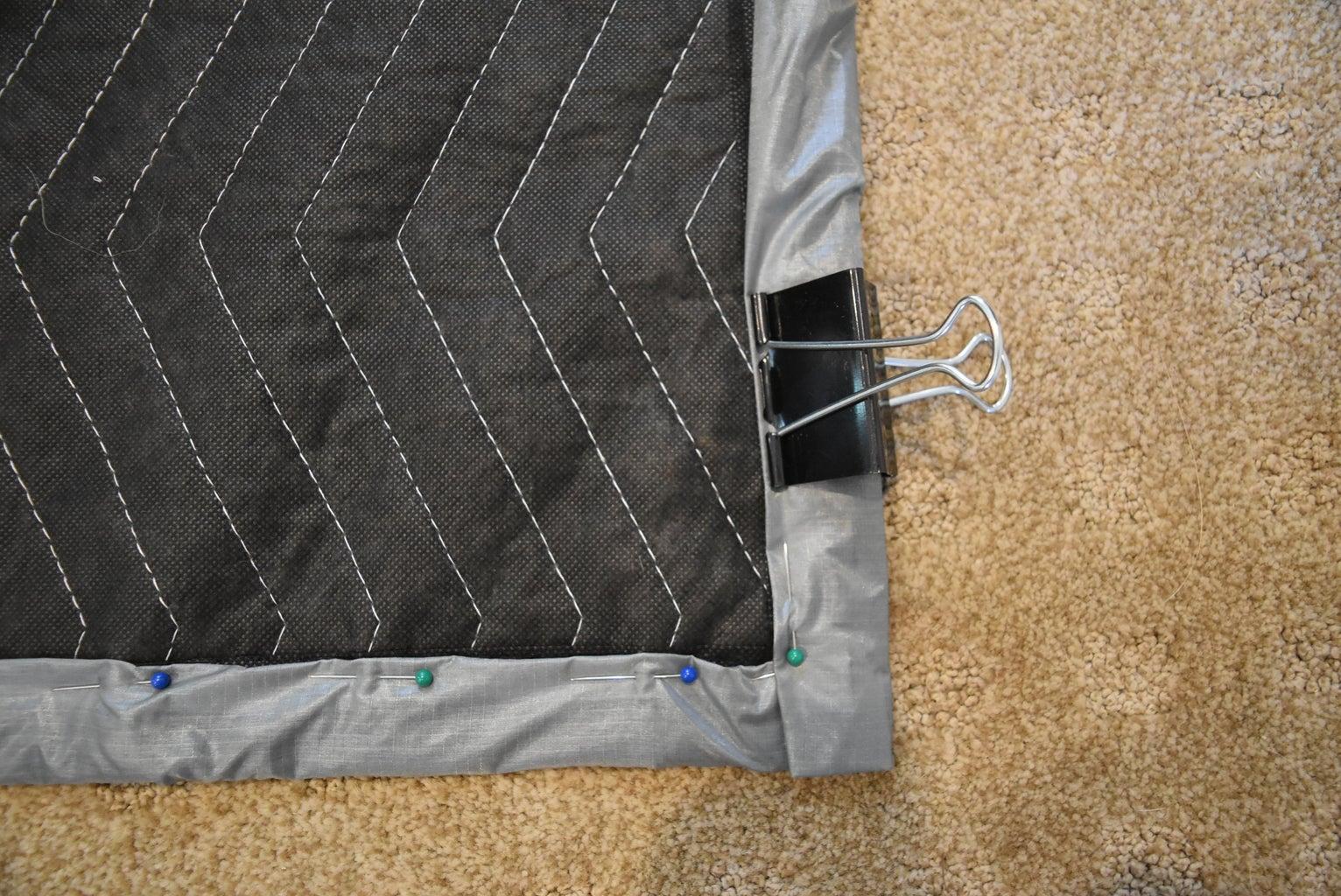 Step 3: Fold and Pin/ Clip Seam Allowance