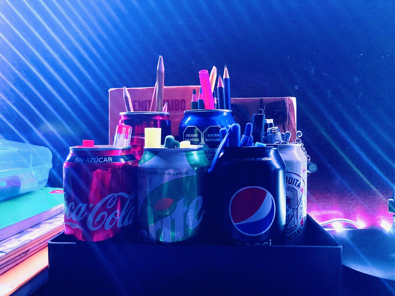 Creating Recycled Soda Can Pencil Holders