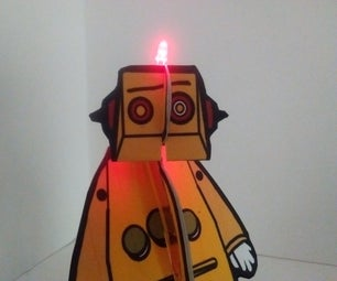 Blinky Paper Robot - 1st Paper Circuit Project